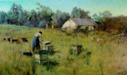 old post card - BeeKeeping