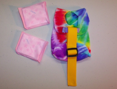 Yellow w/ Tie Dye Print Hatchling Diaper Holder