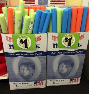 Dollar Store Pool Noodles Horse Agility Equipment